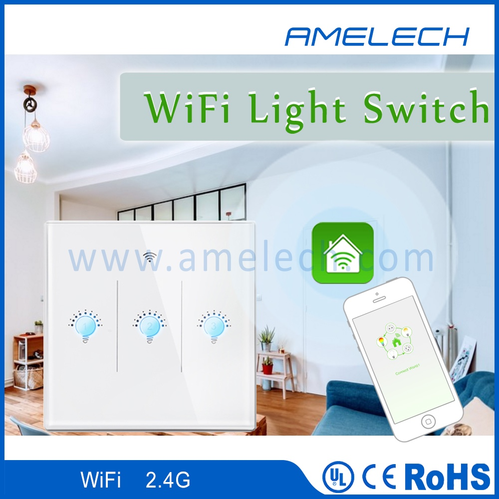 ac 110v 220v 230v 2.4ghz wifi app control smart home touch light wall switch