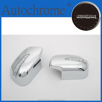 Chrome car trim accent styling, chrome side mirror cover with LED side blinker - for Toyota Rav4 06-09