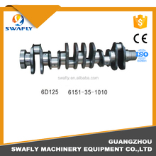 High Quality New 6D125 Engine Crankshaft 6151-35-1010