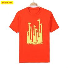 All over sublimatin design printing t-shirt short sleeve ready made garments wholesaler