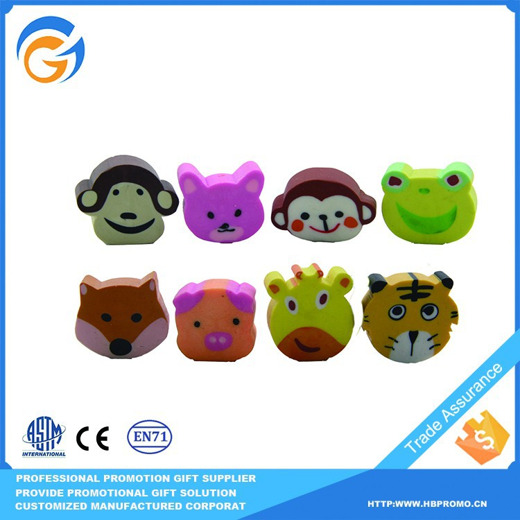 Popular School Custom Shape Eraser for Kids