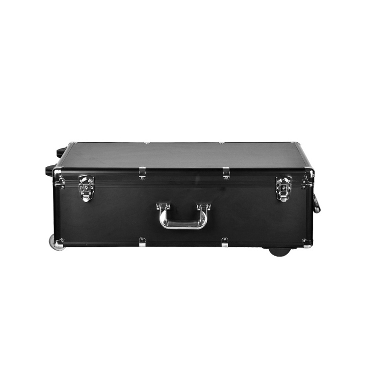 Promotion PU Leather Aluminum Trolley Case With Wheels