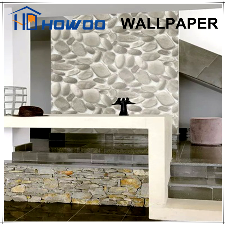 Real stone vinyl 3d wallpapers wall paints with textured wall covering lowes
