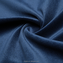 Ming blue colour corduroy suit polyester fabric knitted warp cheap cloth material