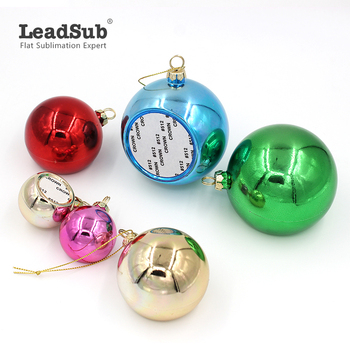 Red Green Pink Golden Plastic Christmas tree ornaments balls wholesale