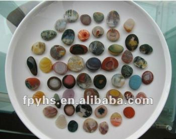 High Polished Gemstone Agate Pebbles Stone