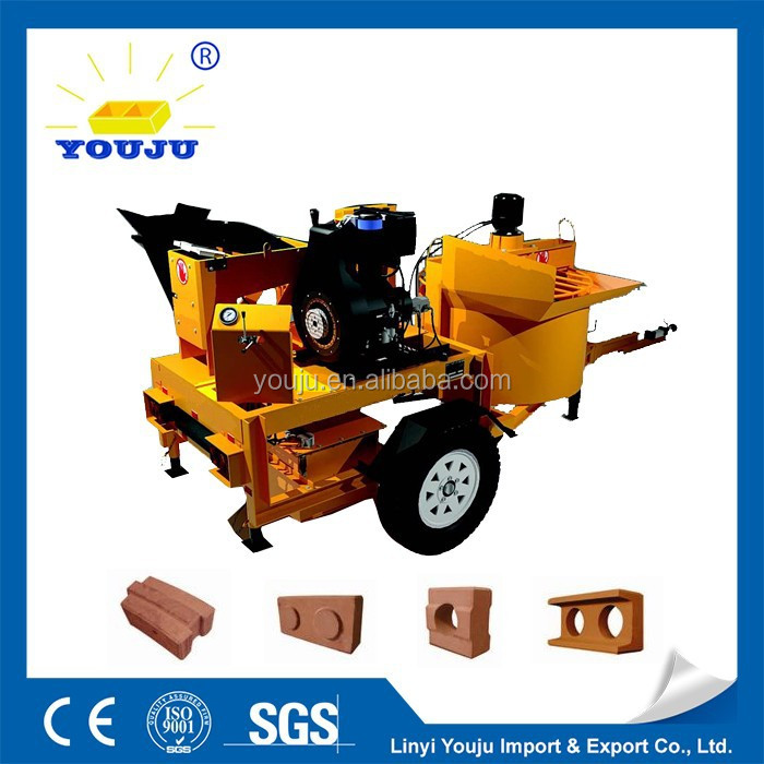 M7MI mobile Super breeze block making machine