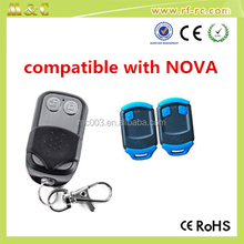 Rolling code remote control is compatible with Nova