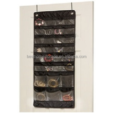 High Quality Oxford Fabric Jewelry Keeper Hanging Storage Bag Organizer,24 Small Pocket And 6 Large Pocket,(Black)
