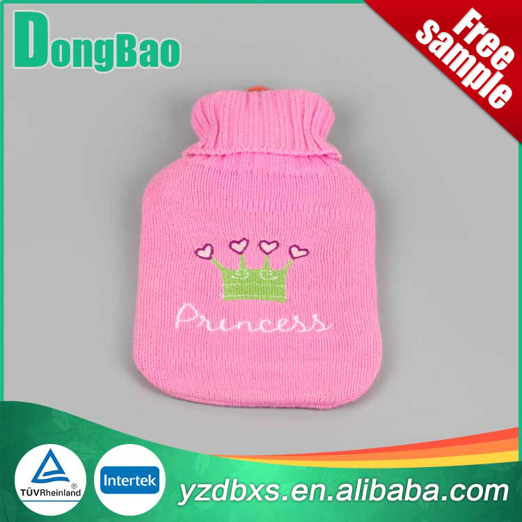 small tree skin pattern pink hot water bag cover