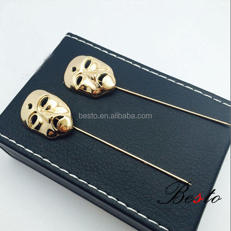 Sale costom mask shape metal lapel pin