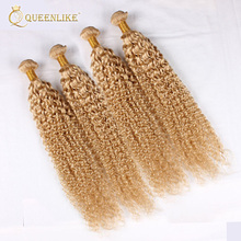 cheap wholesale different types of short curly brazilian human hair extensions blonde hair