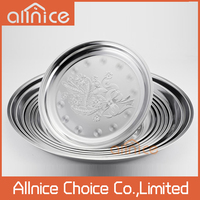 wholesale plate thali stainless steel dinner plate/65cm round stainless trays with good prices