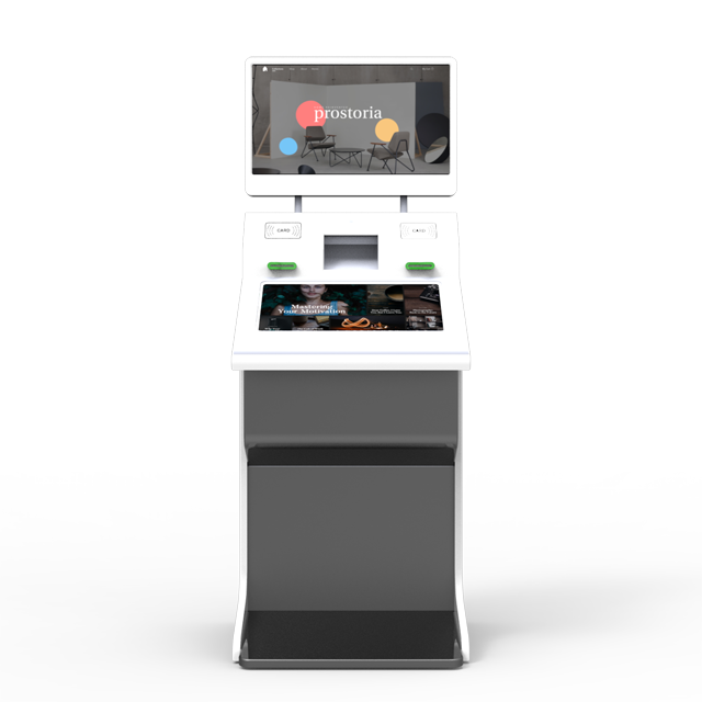 Customizable touch screen payment kiosk self-service lottery vending machine