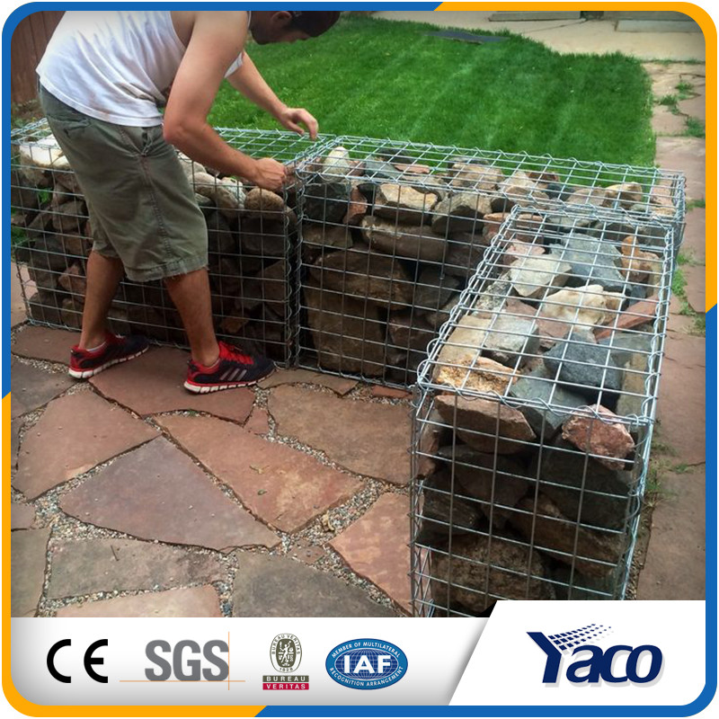 Factory price Easy maintenance 50mm Welded mesh gabion box stone cage