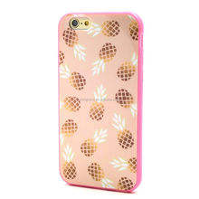 Luxury Shinning Glossy Pineapple pattern PC hard Case Cover for iphone6 6s 6s plus