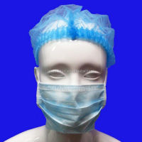 non-woven clip cap bouffant cap double elastic nurse cap with CE ISO certification