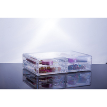 clear cosmetics storage/plastic makeup organizers with 4 drawers