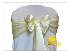 ivory sash chair bow wedding satin chair sashes for sale