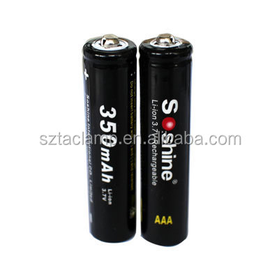 Soshine 10440 li ion battery AAA 350mAh rechargeable 3.7V battery batteries