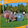 Hot selling half of red TPU / PVC soccer ball/ inflatable bubble football for sale