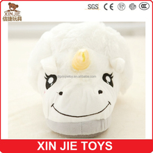 nice design plush unicorn slippers ISO9001 plush slippers manufacturer new design girls plush animal slippers
