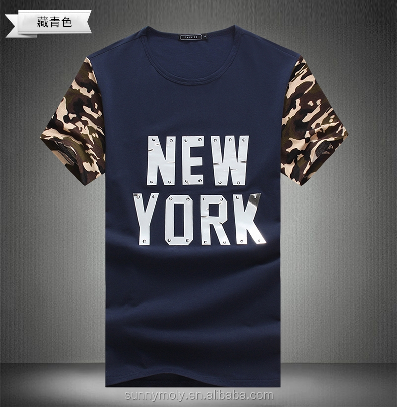 NEW YORK LOGO pattern t-shirt t shirt factory bangladesh blank raglan t shirt wholesale