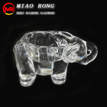 Glass animal elephant shape decorative candle holder candlesticks