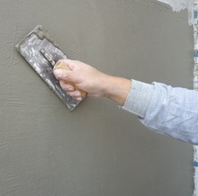 CONCRETE COVERING AND POLISHING WALL PUTTY