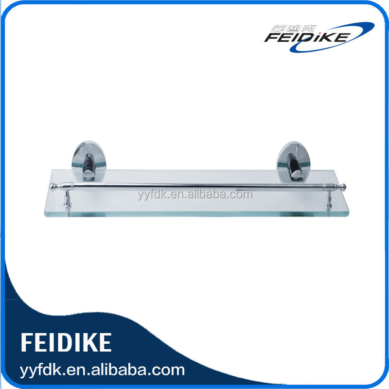 Feidike 5308 chrome finish glass shelf bathroom tempered glass shlef
