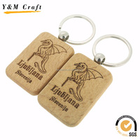 Custom Logo Engraved Wooden Photo Key Chains, Personalised Carved Wood keychain