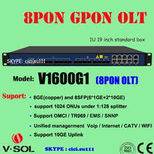 1U height 19 inch rack mount Layer 3 Route GPON 8PON OLT
