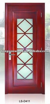 Glass Wooden Door for Washing Room