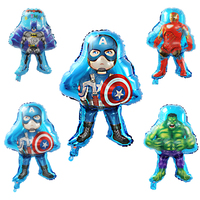 45x65cm Captain America Batman Balloon Cartoon Printed Wedding Decoration Birthday Party Helium Foil Balloons Kids Classic Toys