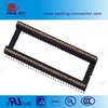 round pin 1.778mm pitch straight machine pin female ic socket connector