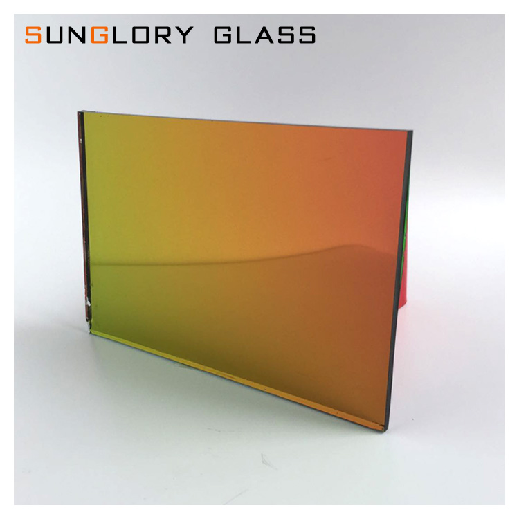Colored / Tinted Silver Mirror Glass , Tinted Glass Mirror