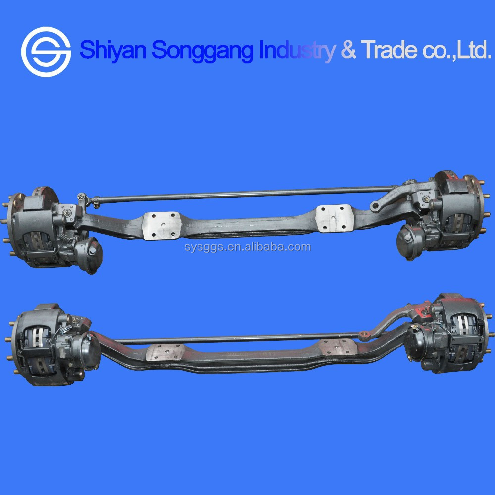 Dongfeng Kinland Kingrun D375 T375 truck Axle parts Disc Brake Front Axle Assembly