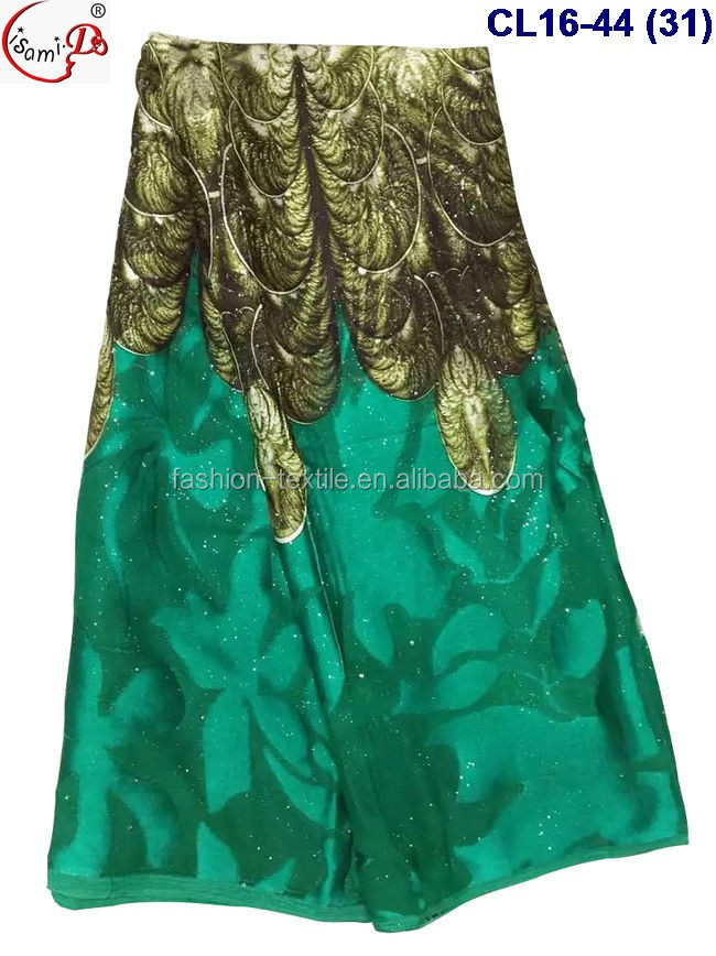 Chowleedee new Product Recommendation silk + velvet with stone fabric for America Market popular mint silk for garment in stock