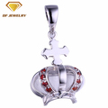 new design silver plated princess queen crown favor pendant