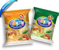 eco friendly back seal snack food packaging bags for chips