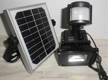 cordless emergency solar led flood light with pir motion sensor