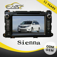 hd 1080p auto headrest dvd monitor for toyota sienna 8 inch with canbus