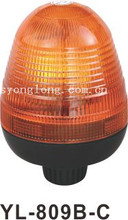 Round dome Amber Halogen rotating beacon light for tractors YL-809B-C