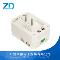 Ac travel UK adapters with usb chargers