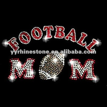 Football mom rhinestone transfer