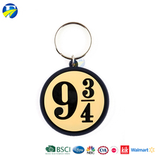 F J brand wholesale promotional rubber keychain gifts custom gift promotion key chain