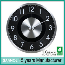 "12"" guangzhou 3D number Aluminum Wall Clock Crafts"