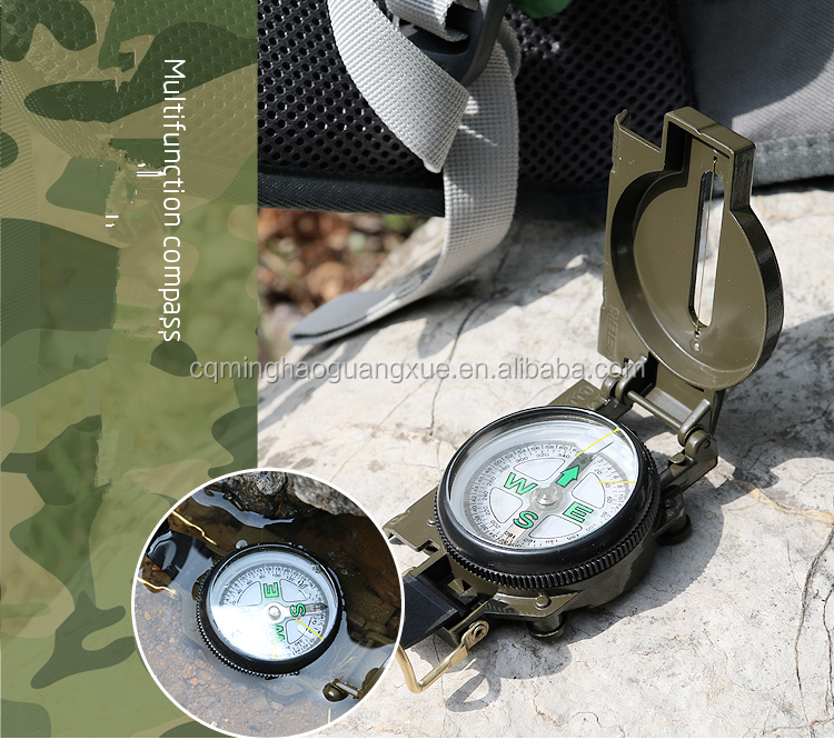 Minghao Mini Metal Compass Pocket Geological Compass