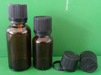 Glass bottle for essential oil 10ml,20ml, amber olive oil bottle with black lids