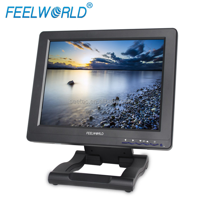 12 inch LCD Touch Screen PC WIN XP/CE Support HDMI DVI Computer Monitor with Foldable Bracket